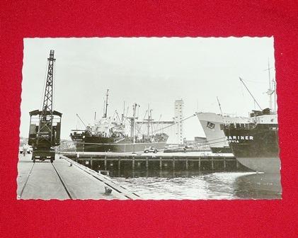antigua postal puerto callao perú blanco negro foto barcos