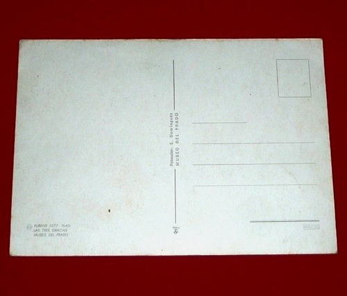 antigua postal rubens las tres gracias 1970 museo del prado