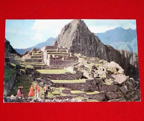antigua postal ruínas machu picchu perú panagra años 60 70