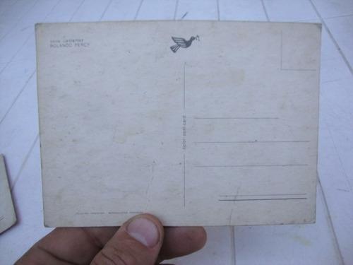 antigua postal serie cantantes rolando percy