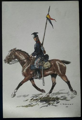 antigua postal soldado uniforme militar belga