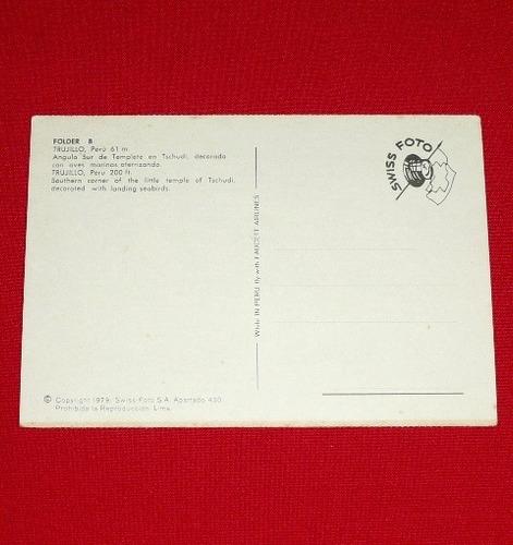 antigua postal templete ave tschudi trujillo swiss foto 1979