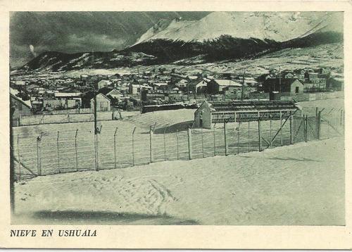 antigua postal ushuaia, tierra del fuego 1950