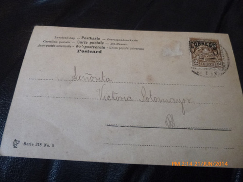 antigua postal  victoria  sotomayor 1909