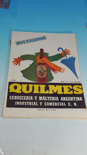 antigua publicidad año 1950- cerveza quilmes