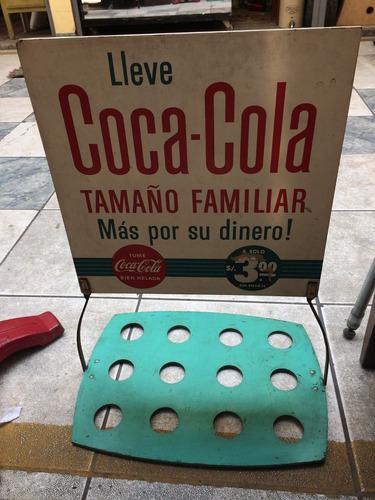 antigua publicidad anuncio letrero coca cola 1950 antiguo