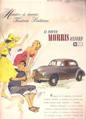 antigua publicidad auto morris oxford