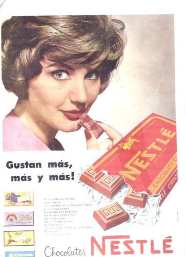 antigua publicidad chocolates nestle