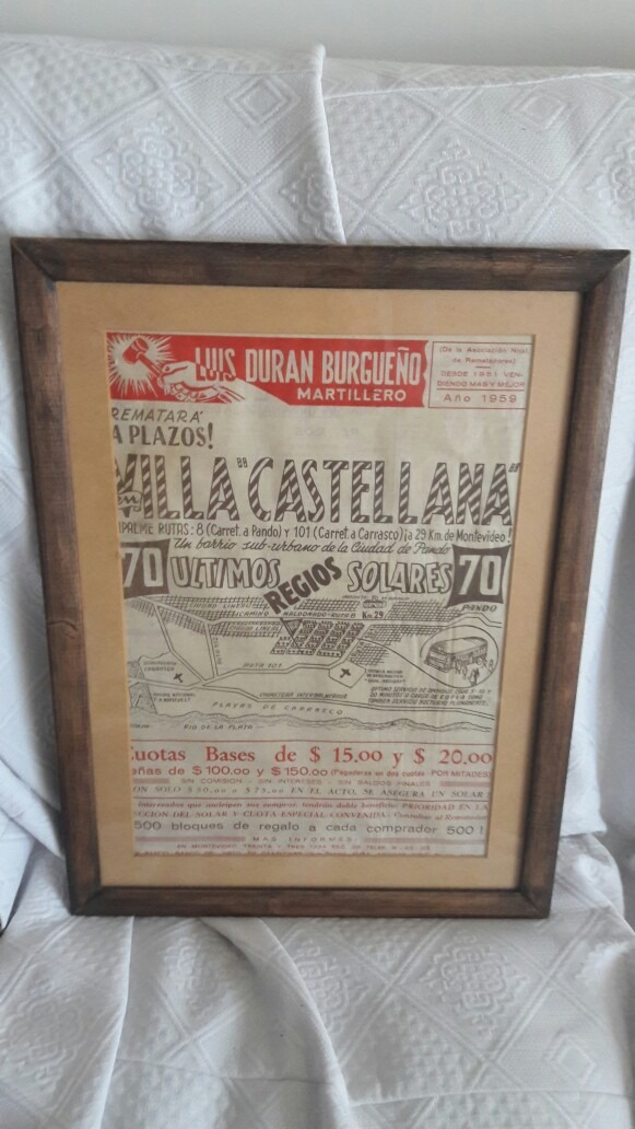 Antigua Publicidad Con Marco De Madera Y Vidrio - $ 1.500,00 en ...