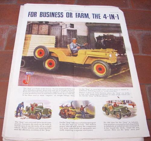 antigua publicidad  jeep