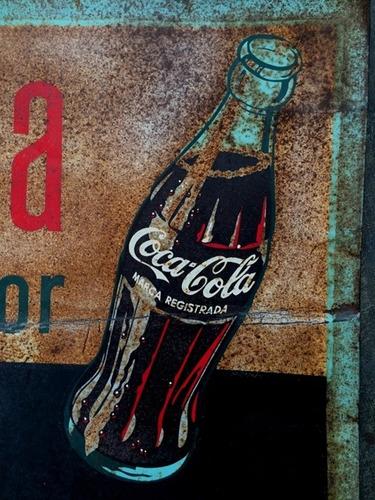 antigua publicidad letrero anuncio coca cola peru 195? antig