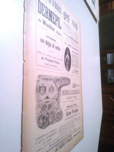 antigua publicidad locion ruiz y roca belleza 1900s