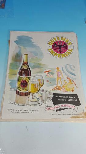 antigua publicidad original- cerveza quilmes-año 1950