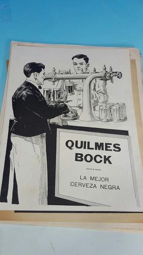 antigua publicidad original- cerveza quilmes bock- año 1940