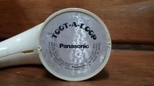 antigua radio toot a loop panasonic retro vintage