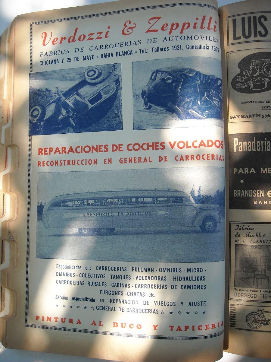 Antigua Rara Guia Telefonica De Bahia Blanca 1946 1 000 00 En  # Muebles Bahia Blanca Fabricas