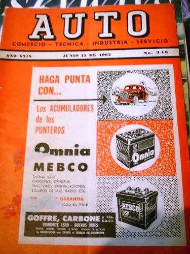 antigua revista auto # 348 junio 1962