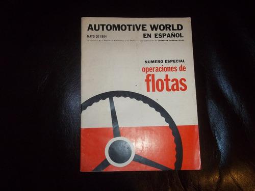 antigua revista de mecanica automoviles world año 1964