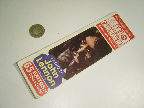 antigua revista especial mi cancionero john lennon