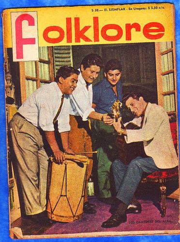 antigua revista folklore - los cantores del alba