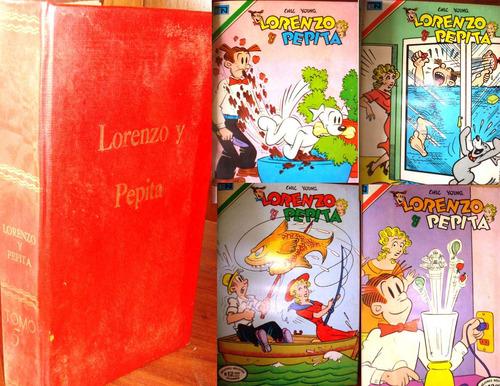 antigua revista, historieta,comic, lorenzo y pepita, 1 tomo
