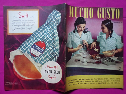 antigua revista mucho gusto n° 61 noviembre de 1951