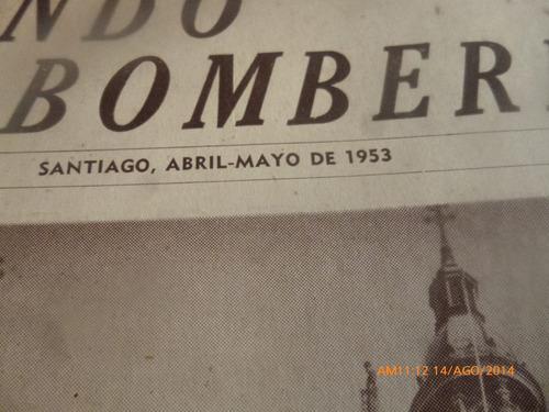 antigua revista  mundo bomberil  n° 4 santiago abril mayo 19