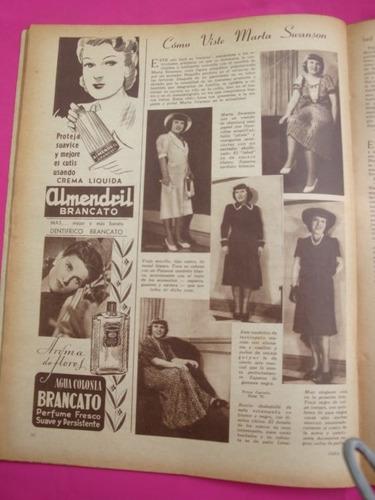 antigua revista para ti n° 1029 año 1942 marta swanson