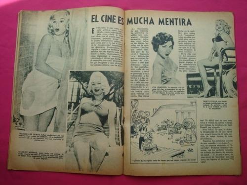 antigua revista ricuritas n° 44 tapa jane powell, marilyn