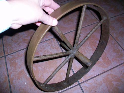 antigua rueda de carretilla, 36 ctms diametro