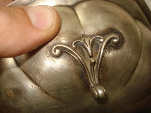 antigua salsera/dulsera de plata inglesa - pesa 146 grs.
