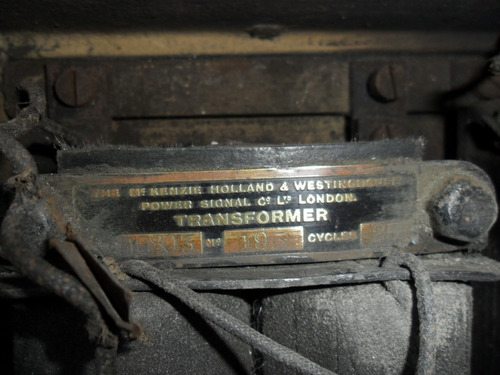antigua señal de piso de playa de maniobra ferrocarril