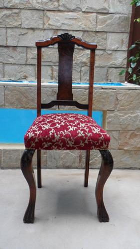 antigua silla chippendale cedro y nogal