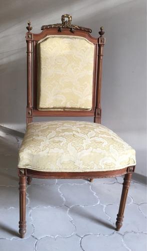 Antigua silla estilo luis xvi finamente labrada y torneada 4 en mercado libre - Sillas estilo luis xvi ...