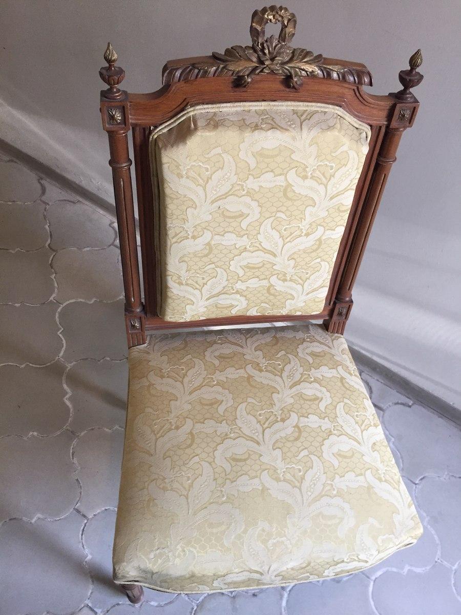 Antigua silla estilo luis xvi finamente labrada y torneada - Sillas estilo luis xvi ...