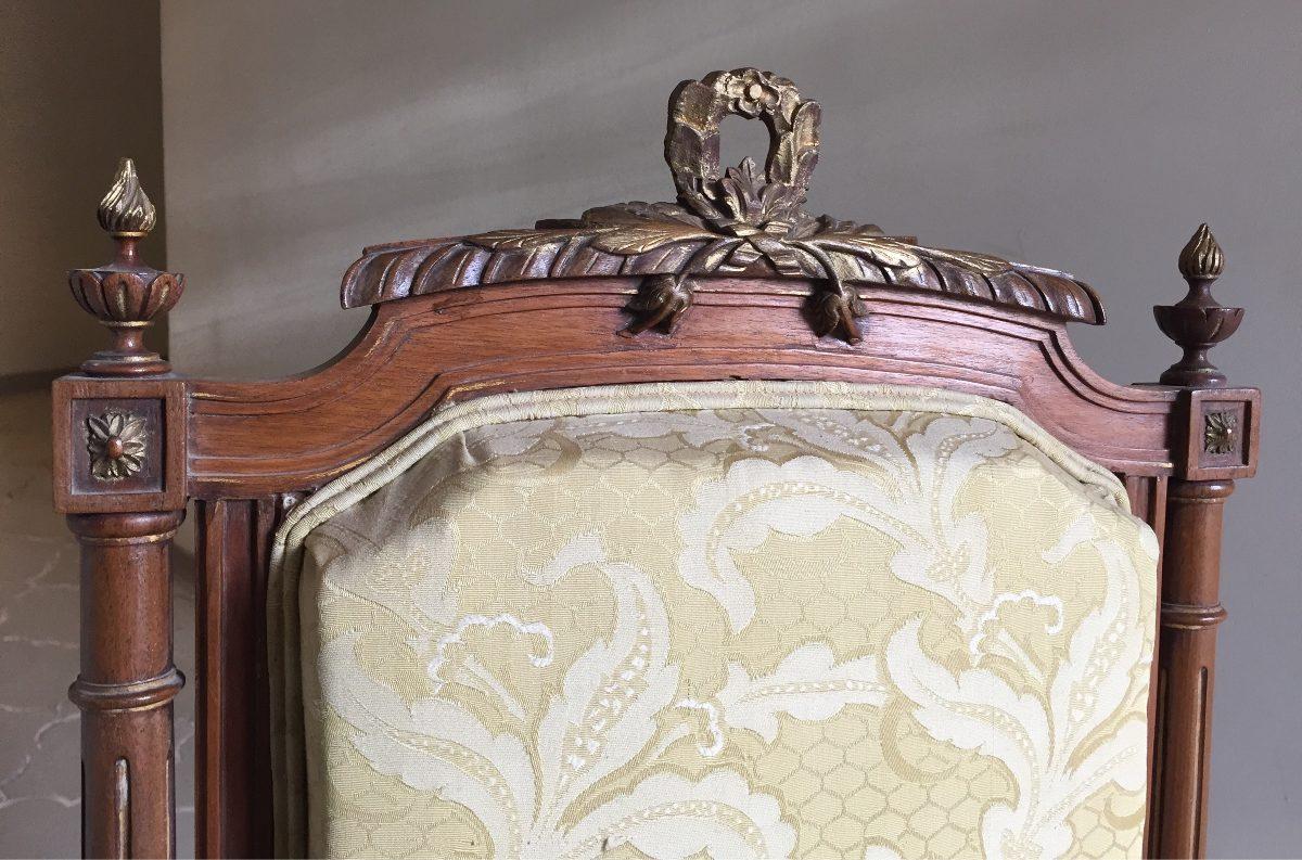 Antigua silla estilo luis xvi finamente labrada y torneada - Silla estilo luis xvi ...