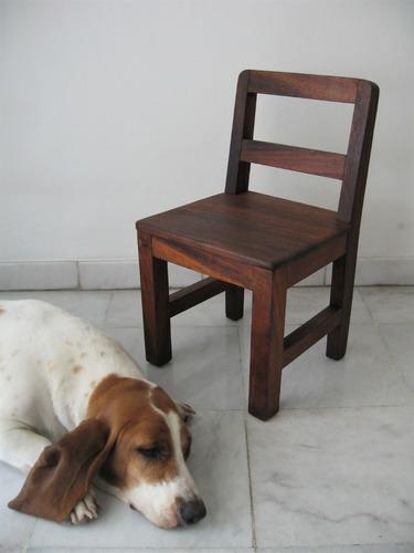 antigua silla para niños mini mueble rústico madera fina