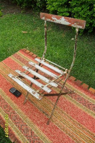 antigua sillita silla chica para niño plegable