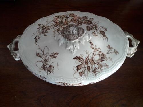 antigua sopera de porcelana inglesa - johnson bros