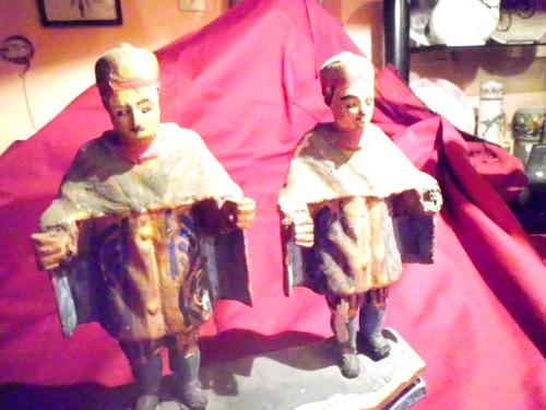 antigua talla imagen san cosme san damian siglo xix arte