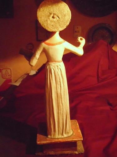 antigua talla imagen santo domingo siglo xix arte popular
