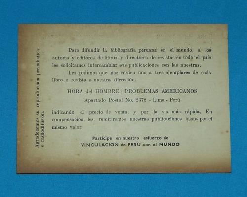 antigua tarjeta ediciones hora del hombre josé uriel garcía