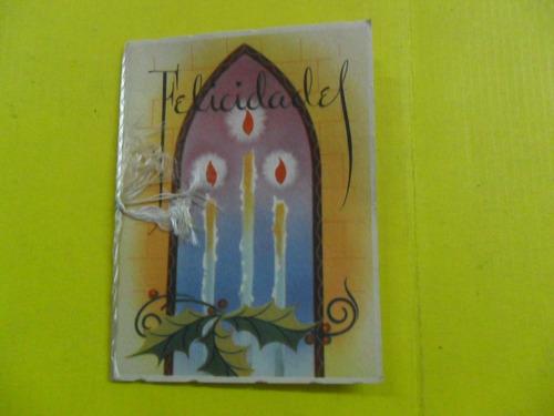 antigua tarjeta felicidades con votos de felicidad año nuevo