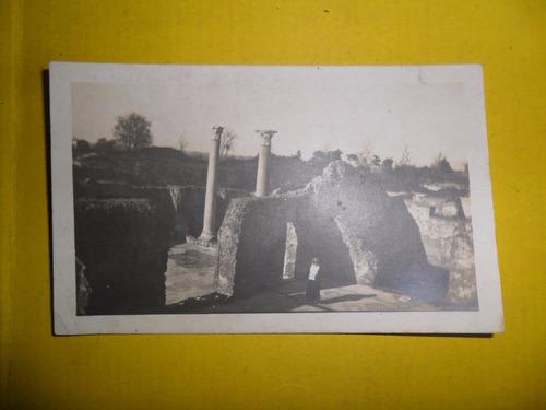 antigua tarjeta foto fotografia ruinas ostia paisaje