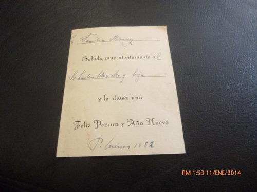 antigua tarjeta navidad de tierra del fuego seno (agost(21f1