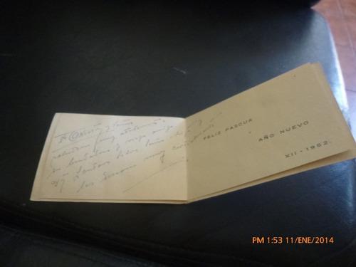 antigua tarjeta navidad del hospital naval de talcah(103f1