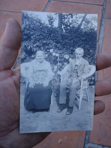 antigua tarjeta postal abuelos