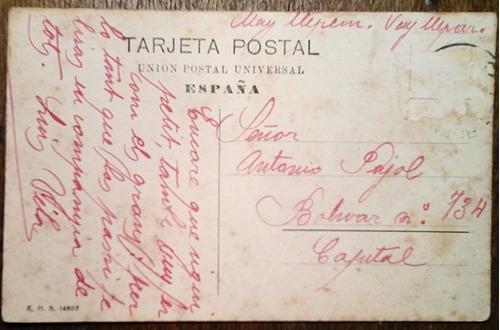 antigua tarjeta postal barcelona 1908