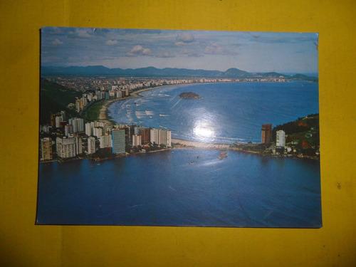 antigua tarjeta postal brasil turistico santos