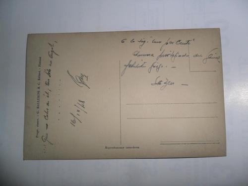 antigua tarjeta postal g ballerini 1948 esopo